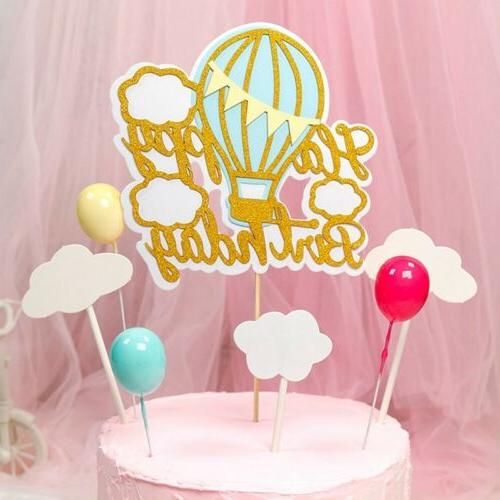 1PC Side Cake Topper Birthday Paper