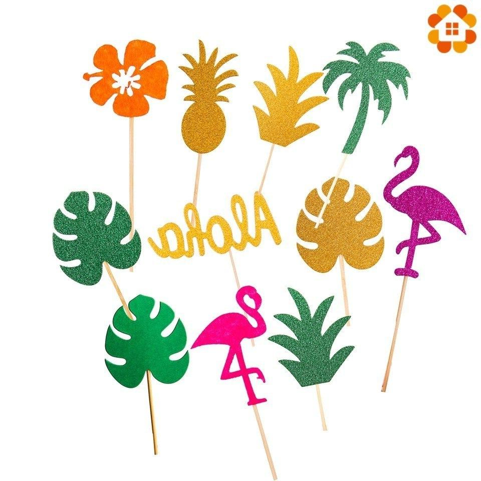 1Set <font><b>Pineapple</b></font> <font><b>Toppers</b></font> Summer Pool Party Wedding Supplies