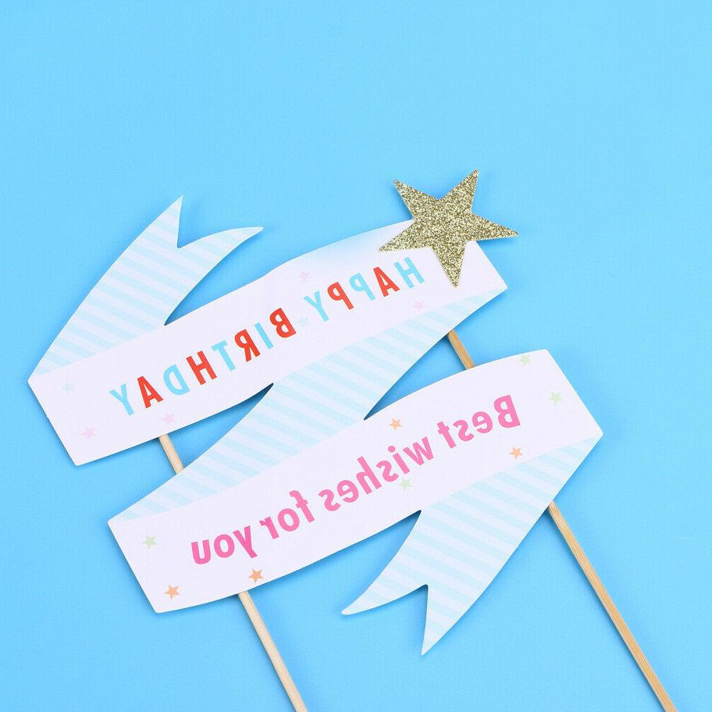 2 Star Words Cake Papery Decoration