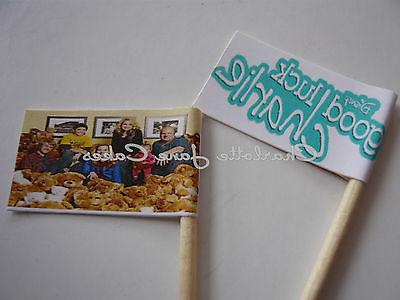 20 CUPCAKE FLAGS/TOPPERS - GOOD LUCK CHARLIE CHILDRENS BIRTH