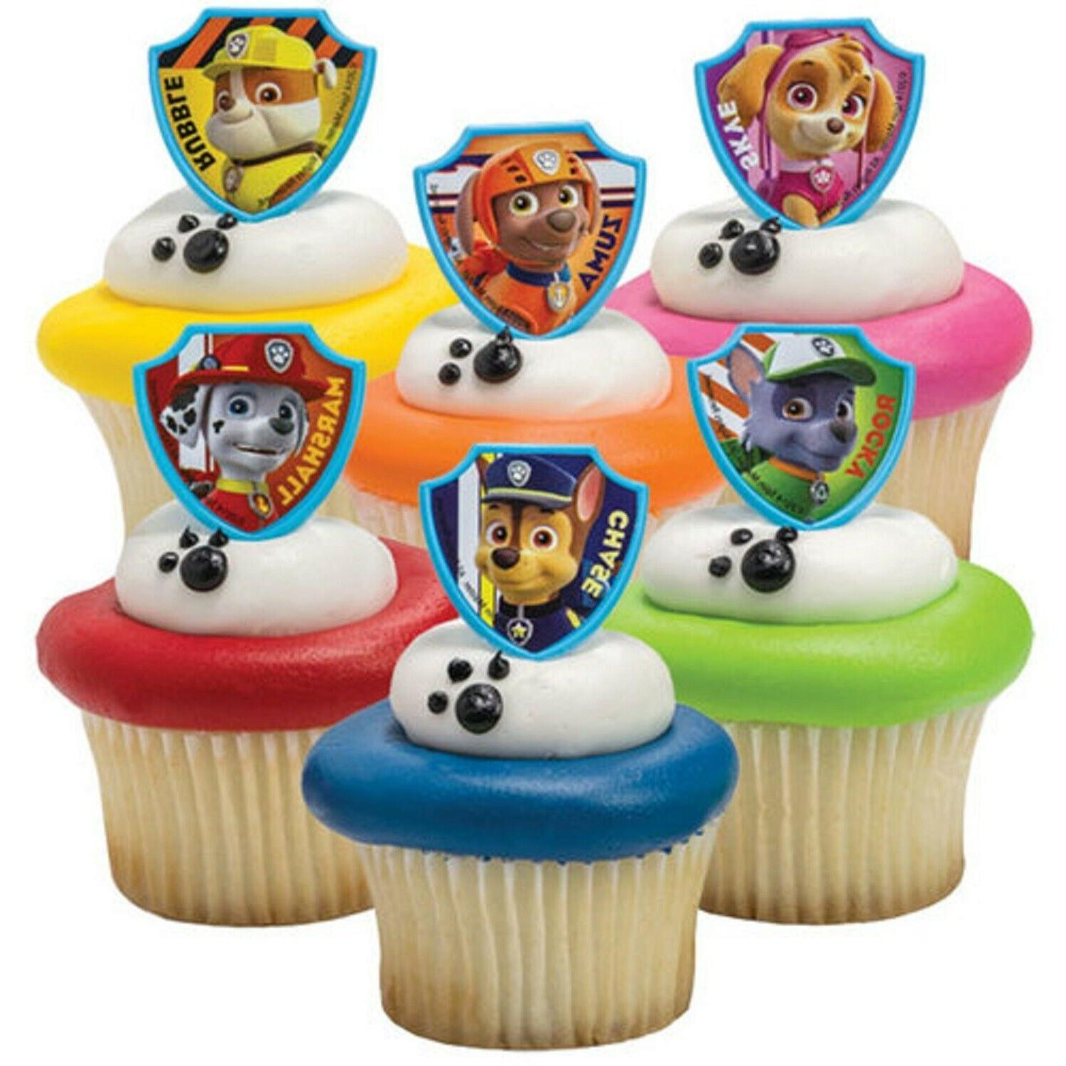 20 PAW Patrol Cupcake Toppers Cake Topper Decorations Birthd