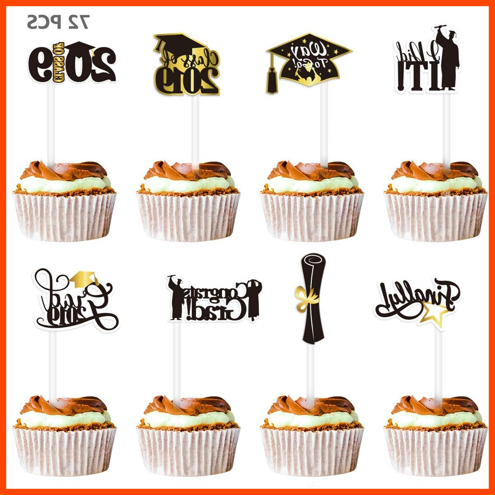 2019 Cupcake Toppers 72PCS Party Of