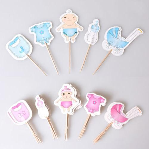 20Pcs Boy Girl Cupcake Reveal Decoration
