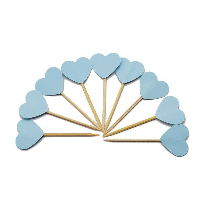 20pcs Mini <font><b>Toppers</b></font> Decorating Picks Kids Birthday Wedding Shower