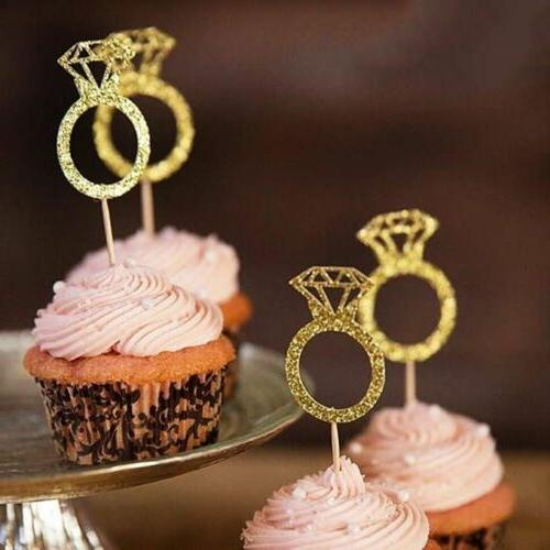 20pcs Party Favors Cake Decor Cupcake Toppers Glitter Diamon