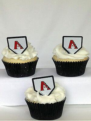 24 Arizona Diamondbacks Rings Toppers Baseball Party Favors
