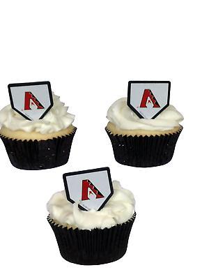 24 Arizona Diamondbacks Cupcake Rings Toppers MLB Baseball P