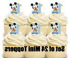 24 baby mickey mini cupcake toppers birthday