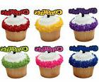 24 Congrats Colorful Graduation Cupcake Picks Cake Topper Fa