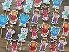 24 - DANIEL TIGER Cupcake Toppers / Birthday Party Supplies
