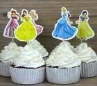 24 Disney Princesses Jasmine Ariel Cupcake Cake Toppers Baby