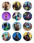 "24 FORTNITE 2"" CUPCAKE EDIBLE WAFER PAPER CAKE TOPPERS #2"