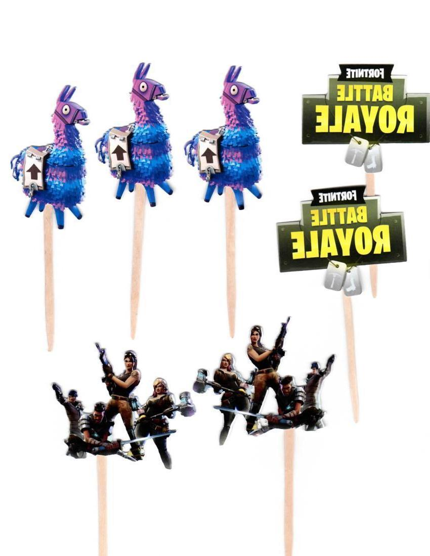 12 fortnite cupcake toppers