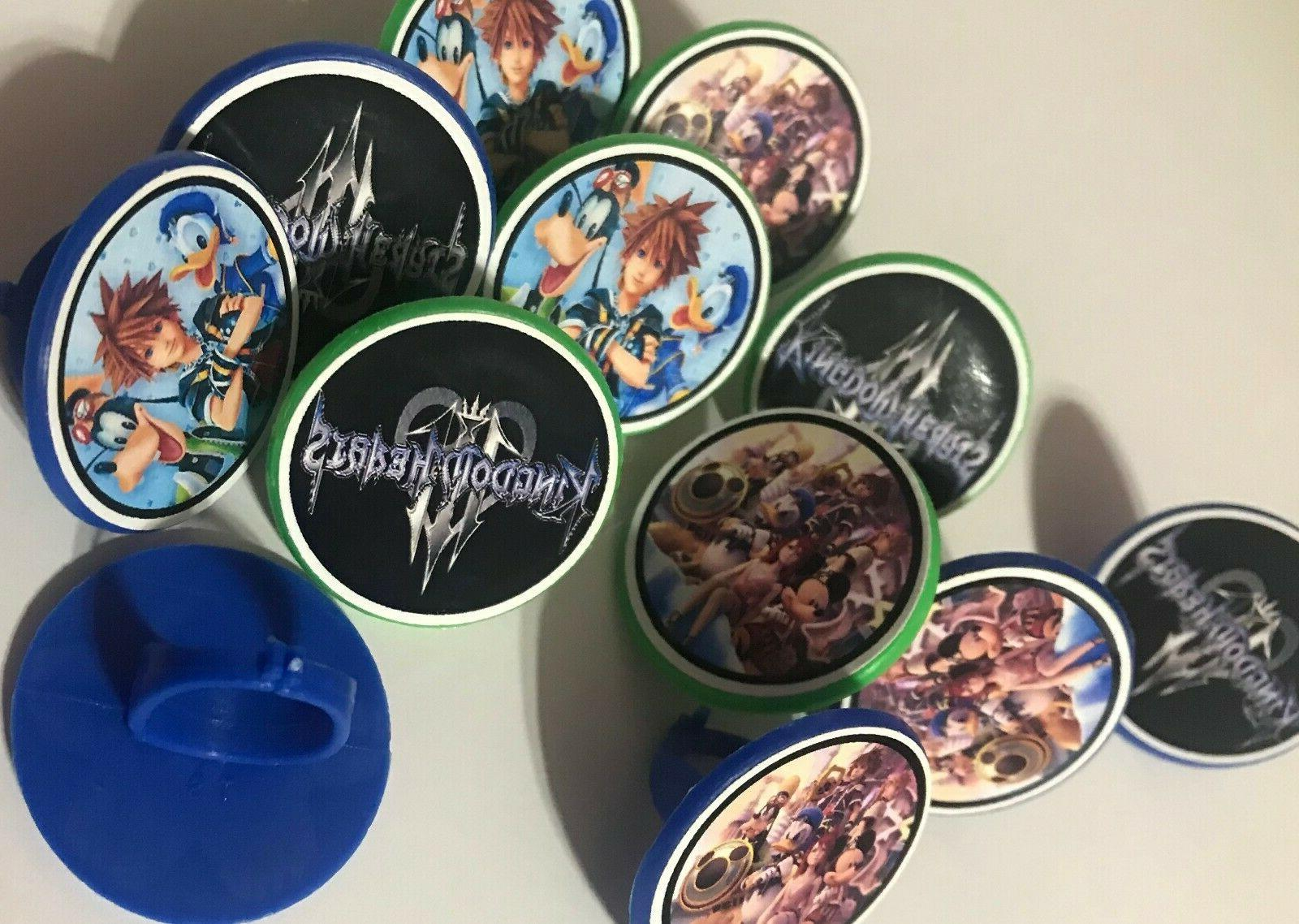 24 kingdom hearts cupcake toppers rings birthday
