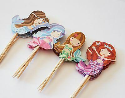 24 Cupcake Picks - Fox Tail