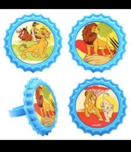 24 LION CUPCAKE TOPPERS CHARACTERS BAG FAVORS