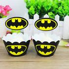 24 pcs BATMAN Cupcake Wrappers and Topper decoration