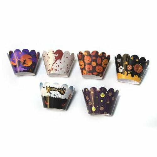 24 Pcs Halloween Toppers Wrappers Party