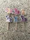 24 Pcs My Little Pony Cupcake Toppers/picks / Birthday Party