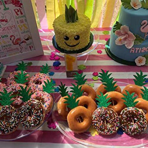 24 pcs pineapple cupcake toppers donut decor