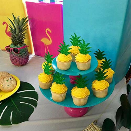 24 Pcs Pineapple Toppers Donut Summer and Party US