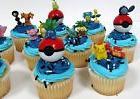 POKEMON 24 Piece MINI Birthday Party Cupcake Topper Set RAND