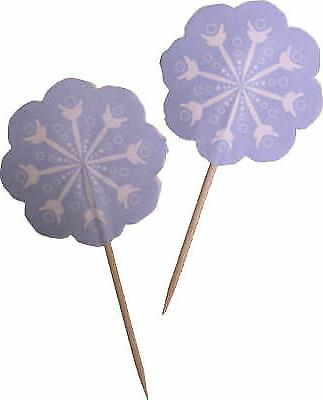 Wilton 24 Pieces Cupcake Picks Snowflakes Winter Party Cake