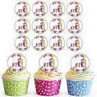 24 Pre-Cut Happy 6th Birthday Cupcake Toppers Decorations Da