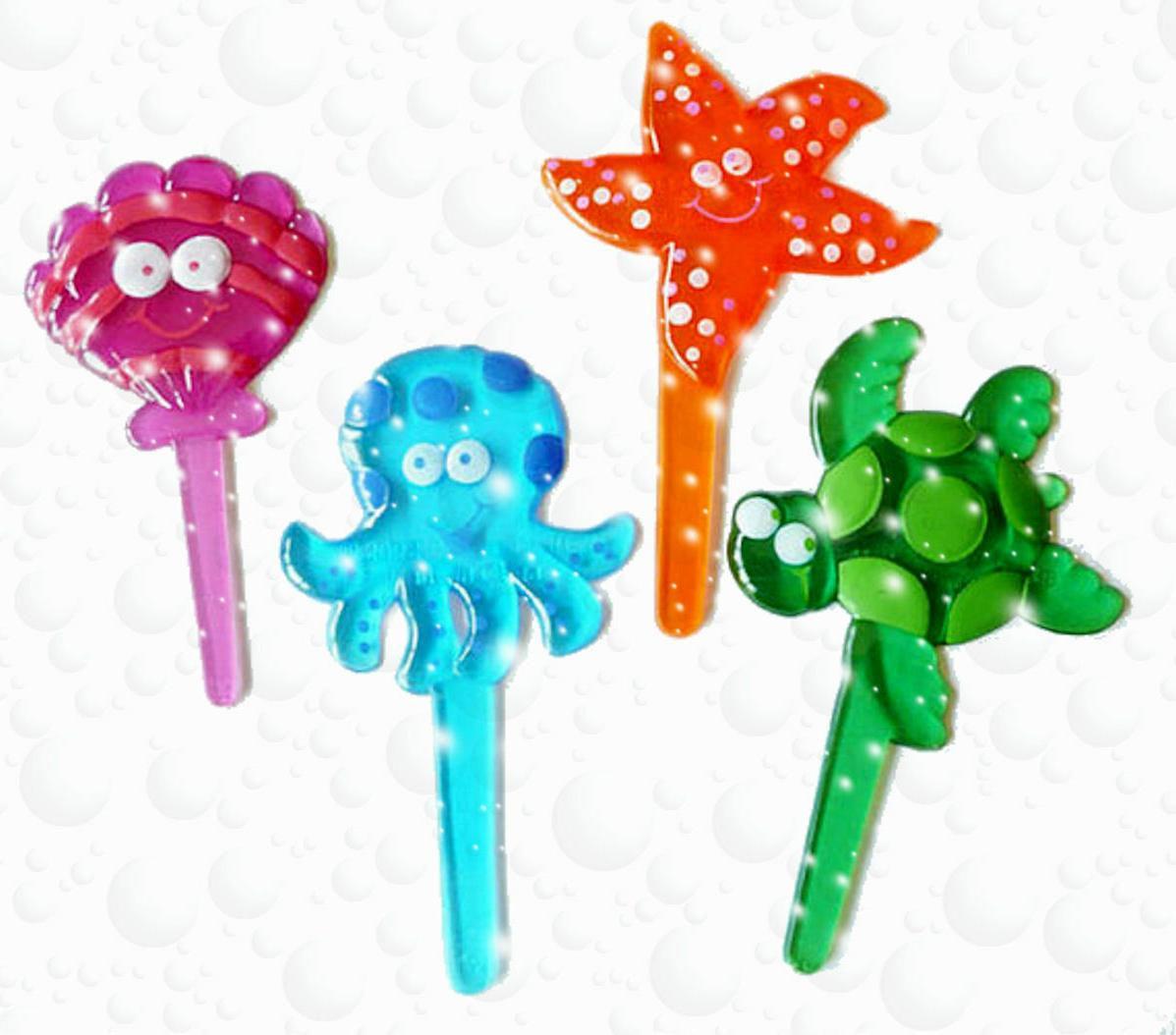 24 Seashell Frog Octopus Starfish Ocean Luau Cupcake Picks,