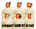 24 - THE INCREDIBLES Mini Cupcake Toppers / Birthday Party D