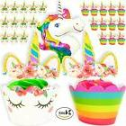 24 Unicorn Cupcake Toppers Plus 24 Wrappers 1 Bonus Giant Ba