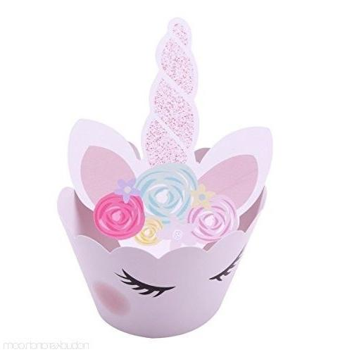 24 Unicorn Wrappers and Toppers ***FREE SHIPPING***
