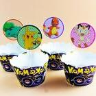 24PC Pokemon cupcake wrapper and topper for kids birthday ev