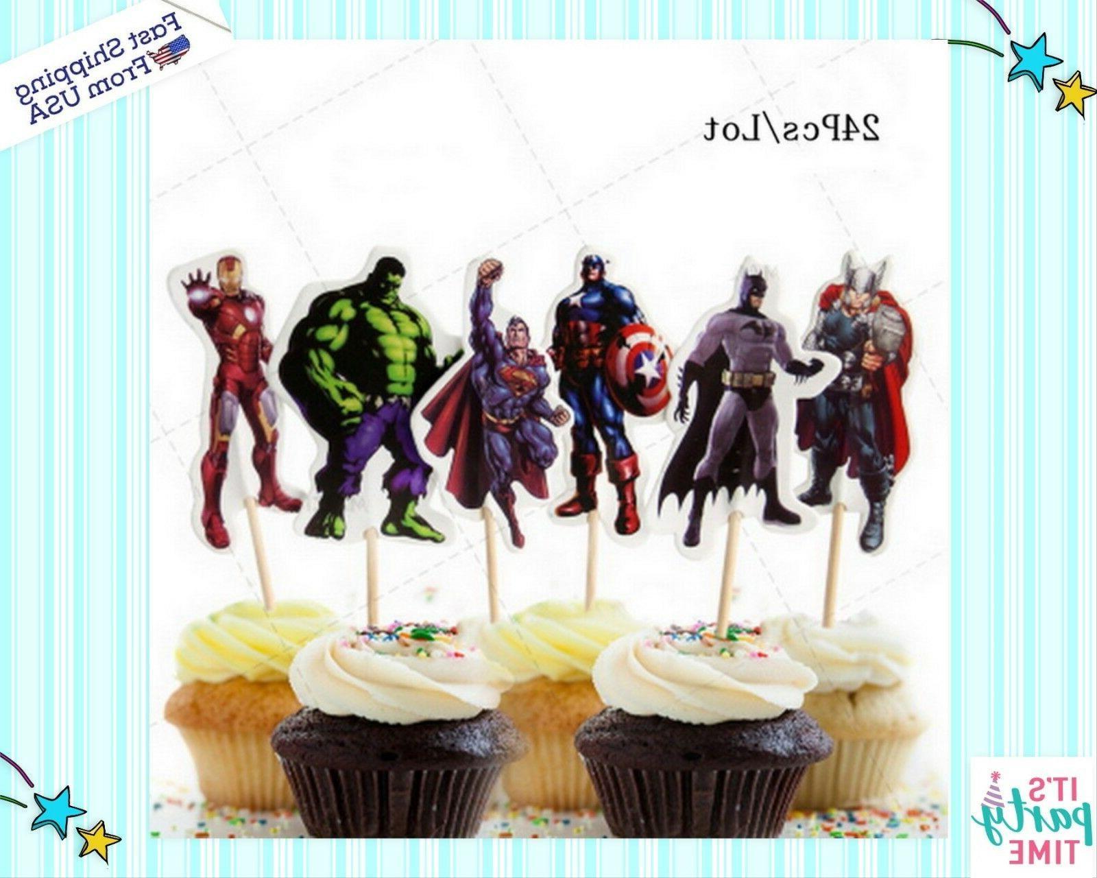 24pc The Superheros fun