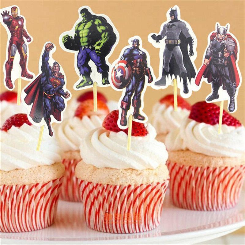 24pc Superheros Cupcake fun Kids