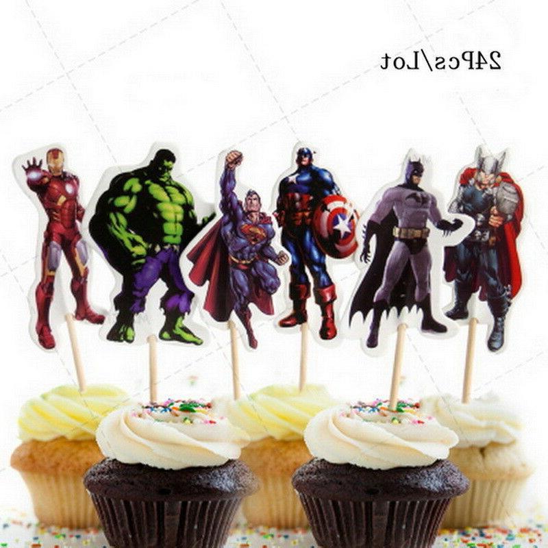 24pc Avengers & Superheros Cupcake fun