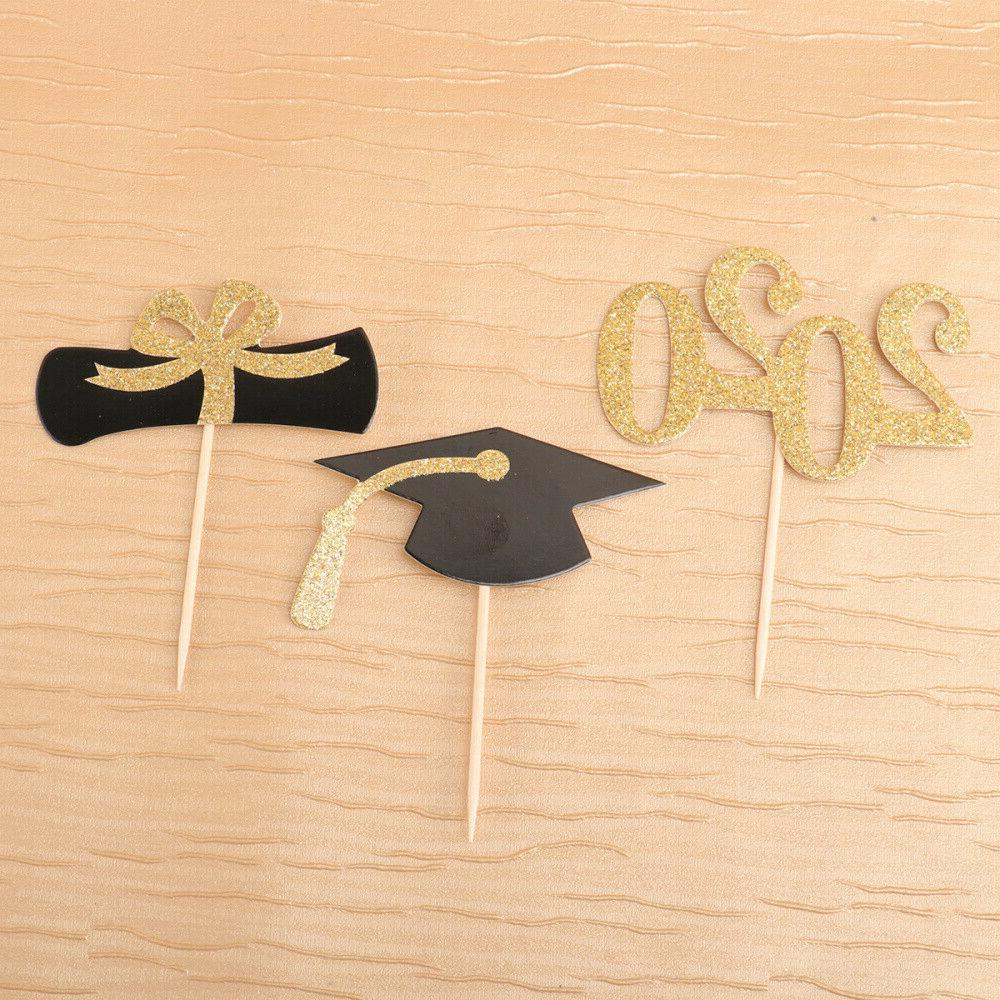 24Pcs Toppers Grad Party Supplies