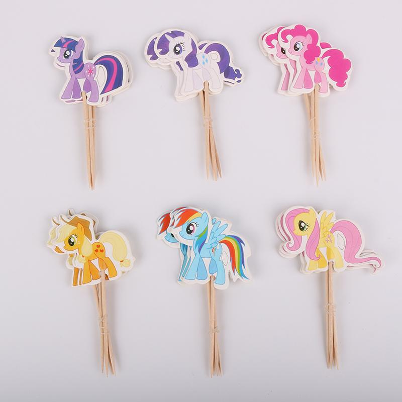 24pcs Cake <font><b>Cupcake</b></font> <font><b>Toppers</b></font> Kid's Birthday Supplies