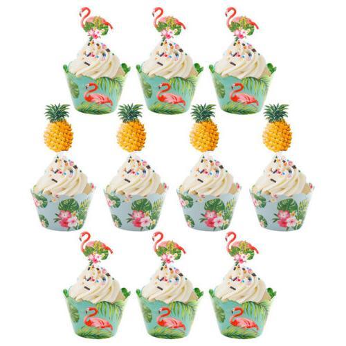 24PCS Flamingo Pineapple Summer Decor