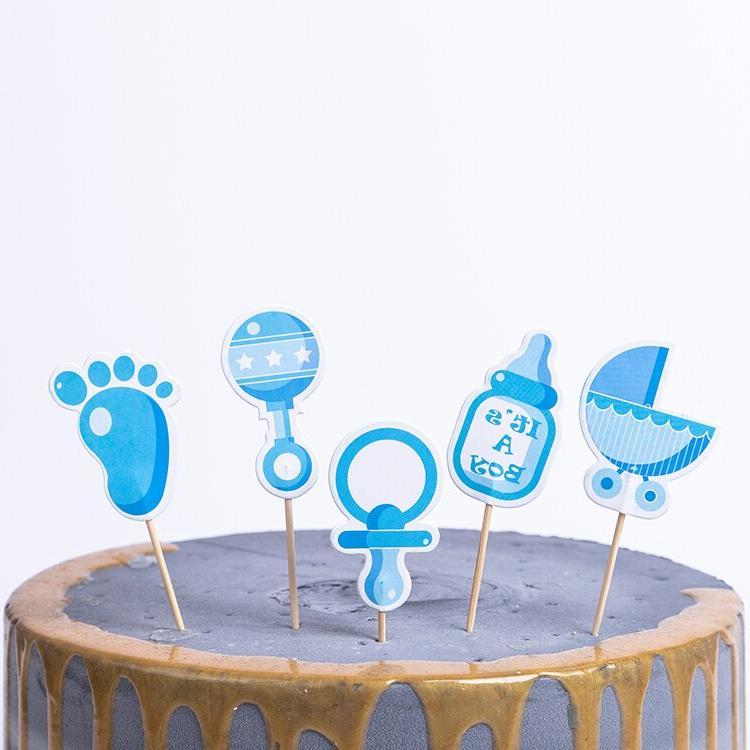 24Pcs/pack Birthday Cake <font><b>Topper</b></font> <font><b>Kids</b></font> Favors Sofia Frozen Unicorn Theme Baby <font><b>Cupcake</b></font>