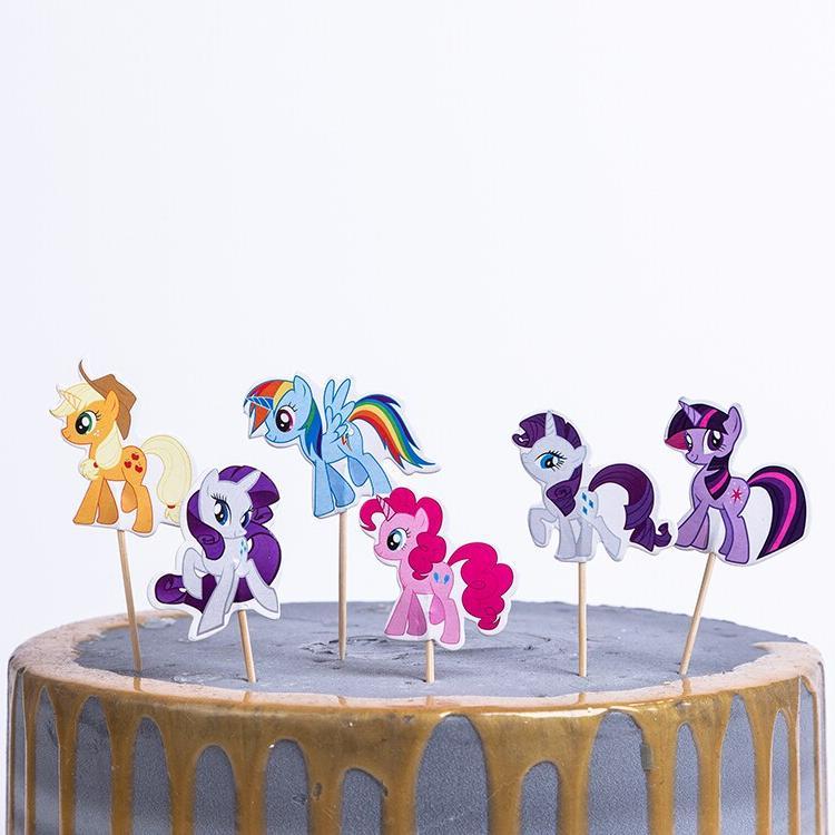 Cake <font><b>Topper</b></font> Sticks <font><b>Kids</b></font> Favors Unicorn Theme Shower <font><b>Cupcake</b></font> Set