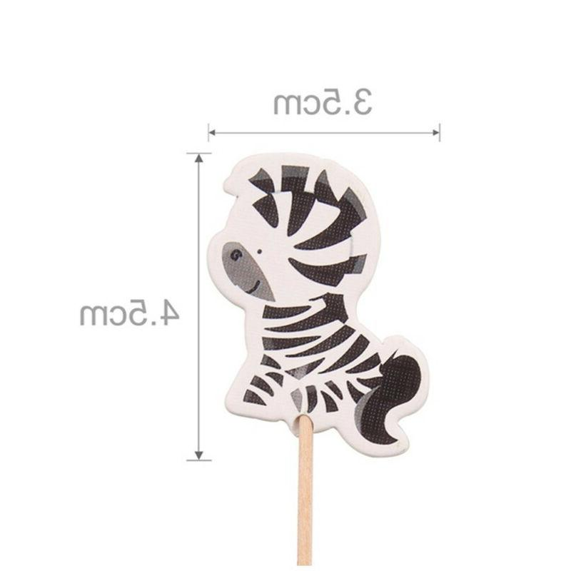 24pcs Cupcake Picks Party Decor Kids