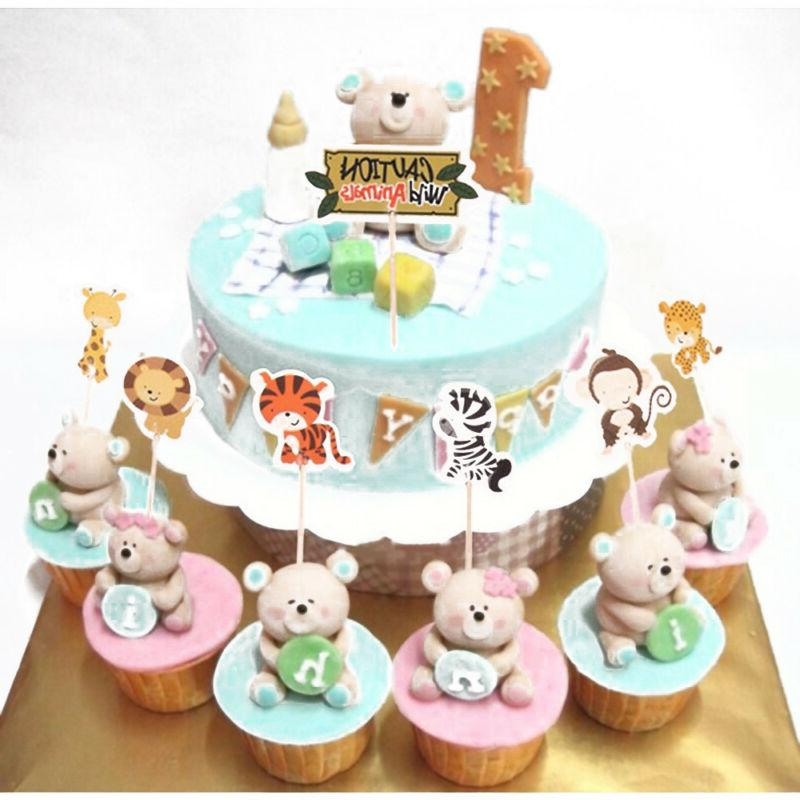 24pcs Animal Cupcake Party