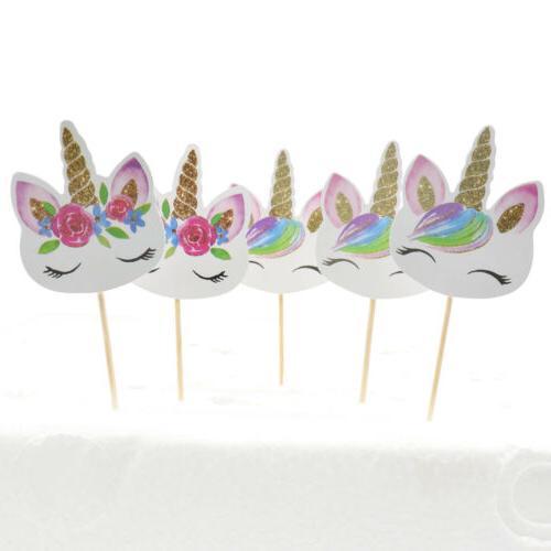 24pc Unicorn Cupcake Edible Topper Birthday Party