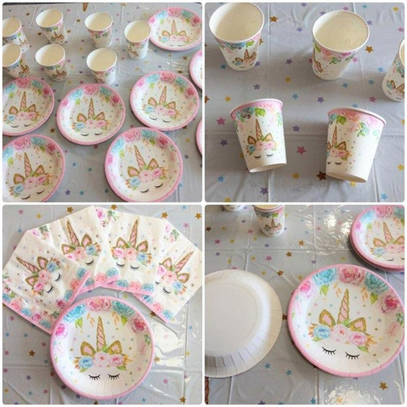 MEIDDING <font><b>Kit</b></font> Cake +<font><b>Cupcake</b></font> Wrappers Party Baby Shower Unicorn Party Supplies