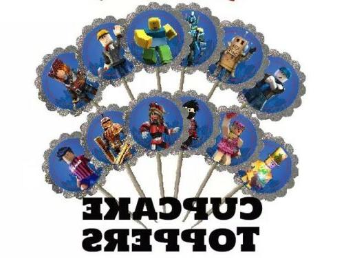 24x roblox cupcake food toppers