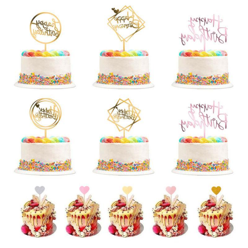26 pcs happy birthday acrylic cake stick