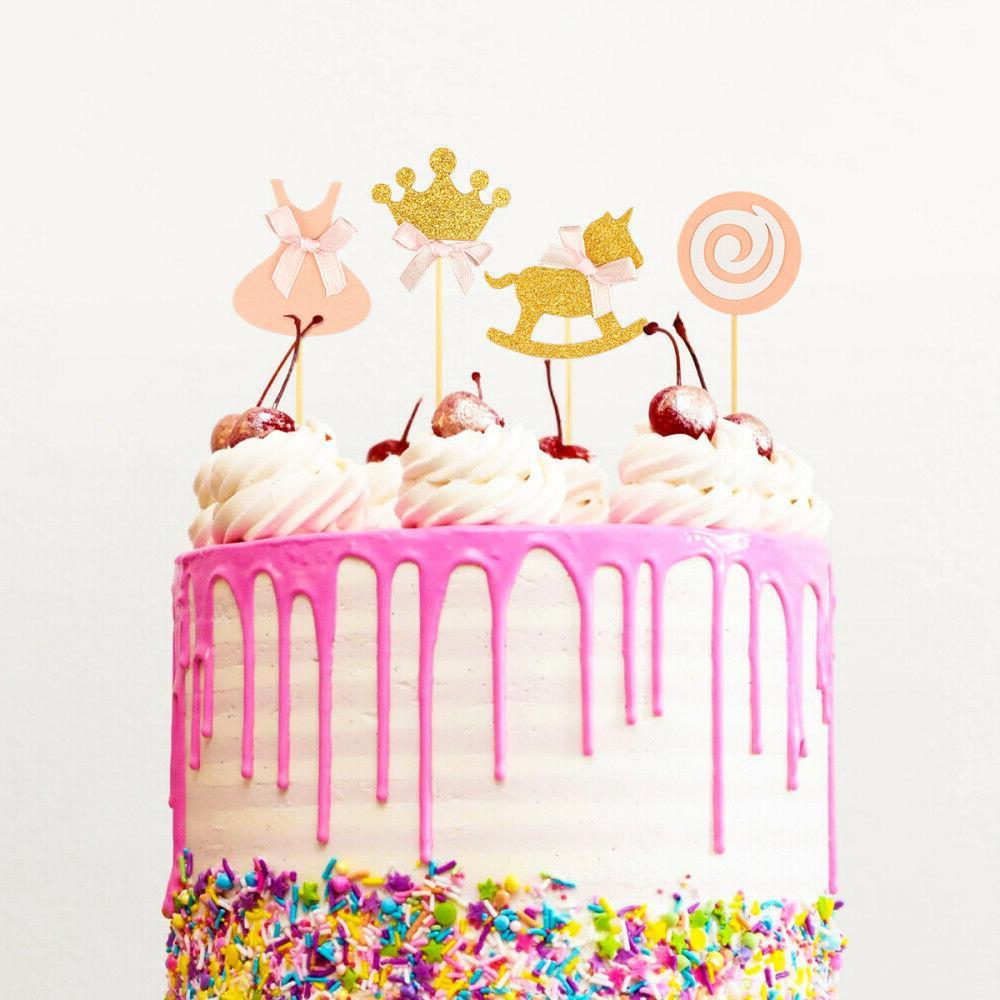 BESTONZON 27 Pcs Princess Toppers Birthday Cake