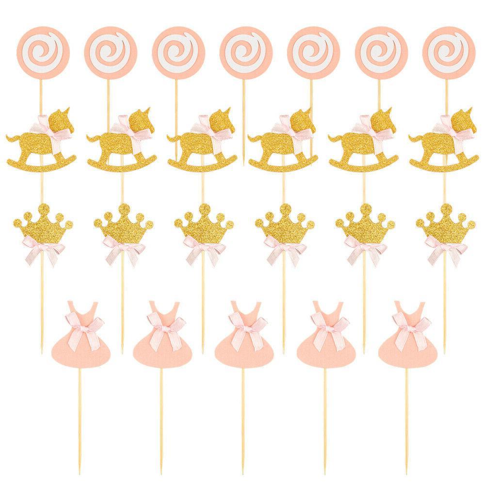BESTONZON 27 Pcs Princess Toppers Birthday Party