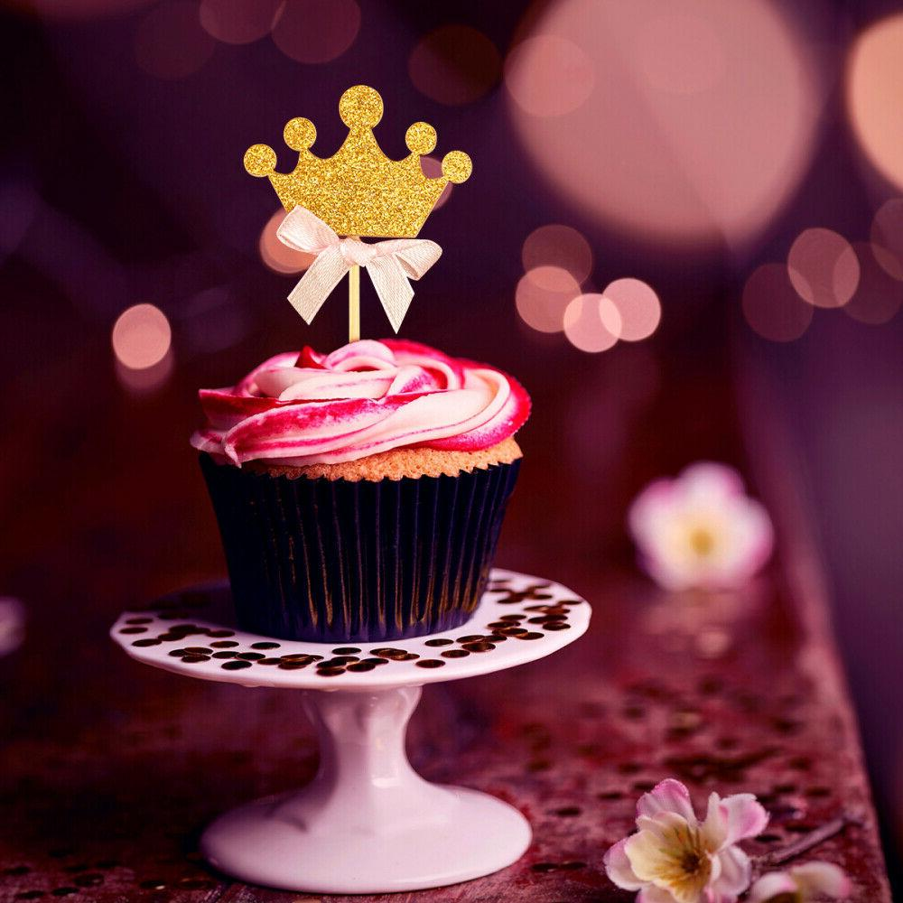 BESTONZON Pcs Princess Themed Cupcake Toppers Birthday Party